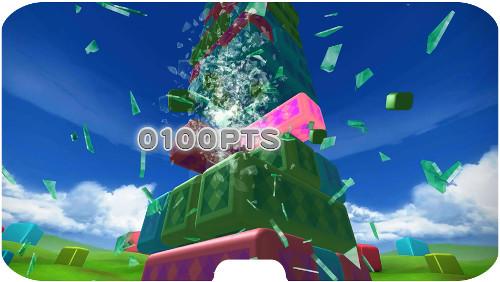 ハウステンボス「VRの館」ブロックブレイカーブロック