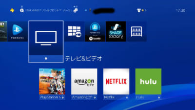 テレビ&ビデオからYoutubeアプリを選ぶ