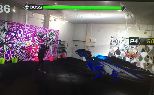 VR Center体験「リアルモンスターバトル」