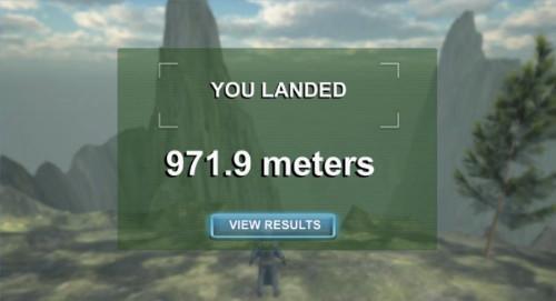 VRアプリゲーム「WingSuitスコア」