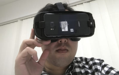 AndroidのVR見方「VRゴーグル装着」