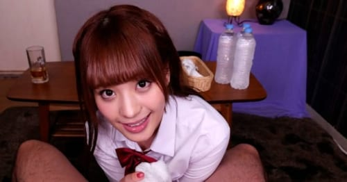 桃乃木かなの女子校生コスで誘惑されるまどかヒカル