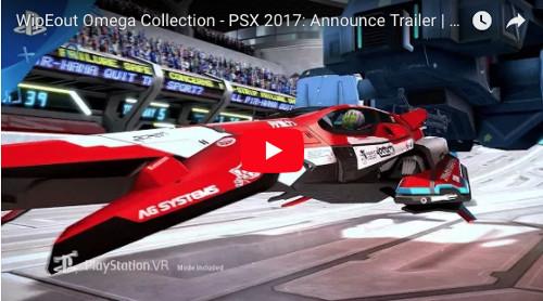 PSVRゲームソフト「ワイプアウト オメガコレクション」の動画