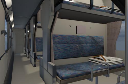 VR鉄道建設プロジェクトのブルートレイン