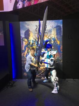 TGS2017のヒカルのコスプレと一緒に撮影