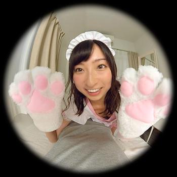 VRアイドル新作動画の緒方咲の猫の手