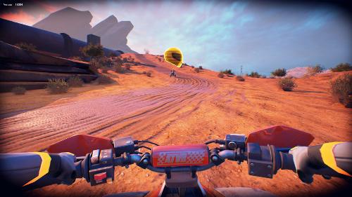PSVRゲームソフト「ATV ドリフト&トリックス」のプレイ画像
