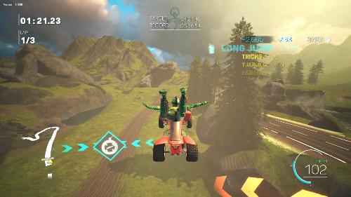 PSVRゲームソフト「ATV ドリフト&トリックス」のジャンプ画像
