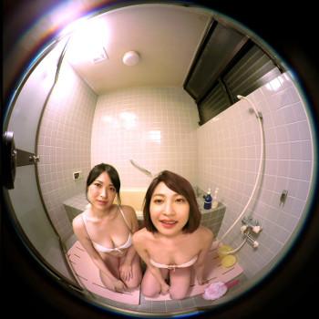 女子社員二人とアイドルVRでお風呂
