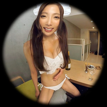 VRアイドル新作動画でメイド服を脱ぐ小川めい