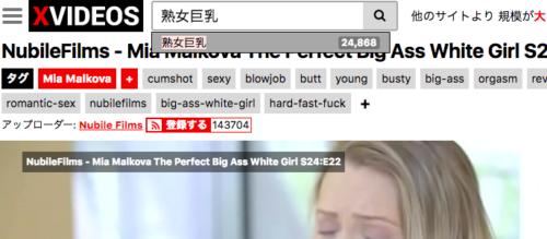 検索もできないxvideos