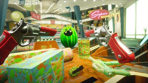 PSVRゲーム「Shooty Fruity」