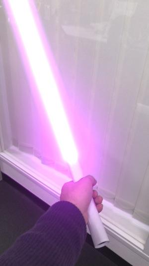 紫のARライトセーバー