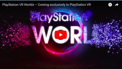 PSVRソフト「PlayStationVR WORLD」の動画