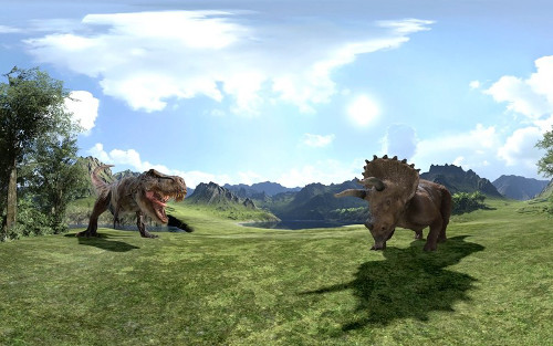 DMMの無料VR動画「恐竜戯画」