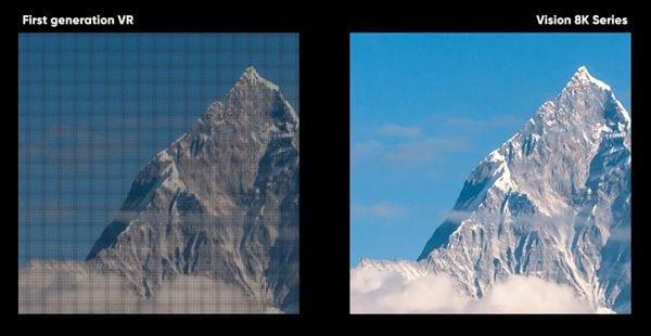 pimaxVision 8K PLUS2の解像度比較